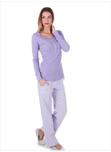 Ayyıldız Pijama Takım Lila